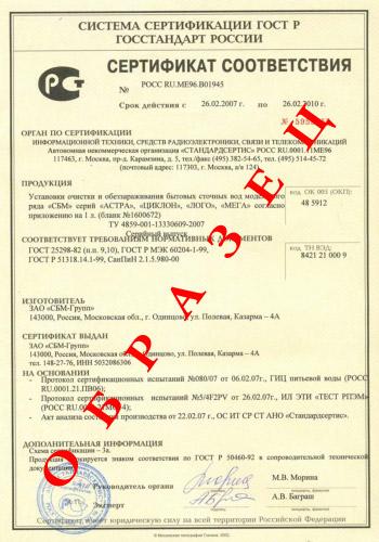 Обязательная сертификация ГОСТ – Р